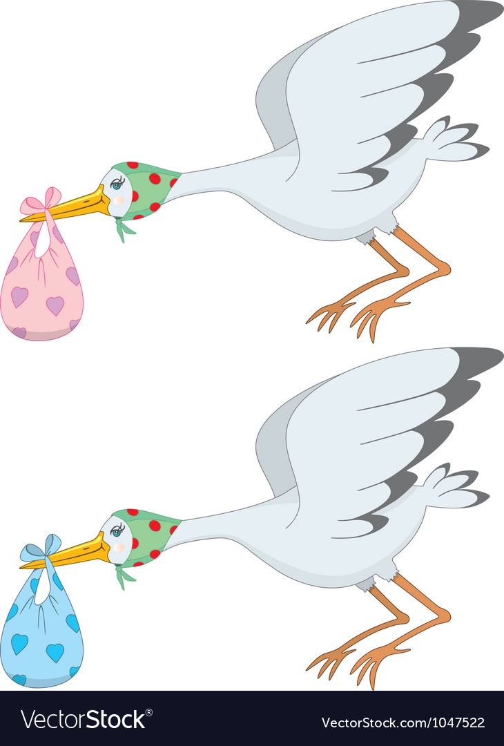 Stork vector | Price: 1 Credit (USD $1)