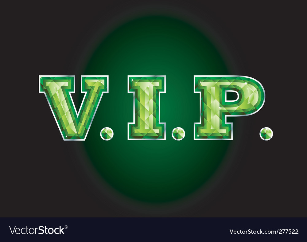 Vip letter diamond vector | Price: 1 Credit (USD $1)