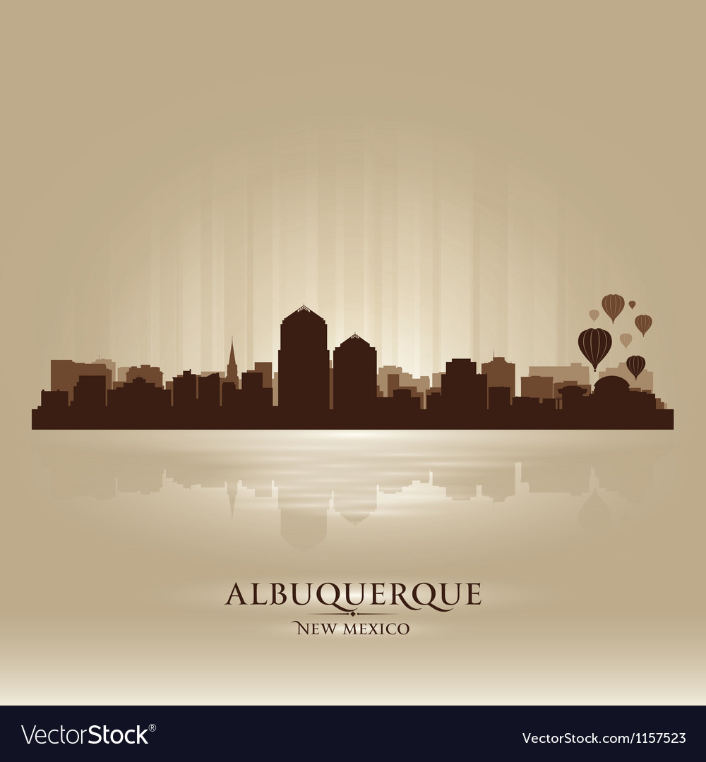 Albuquerque new mexico skyline city silhouette vector | Price: 1 Credit (USD $1)