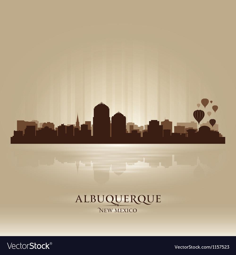 Albuquerque new mexico skyline city silhouette vector | Price: 1 Credit (USD $1)