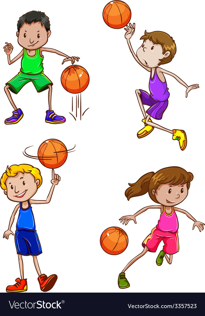 Basketball players vector | Price: 3 Credit (USD $3)