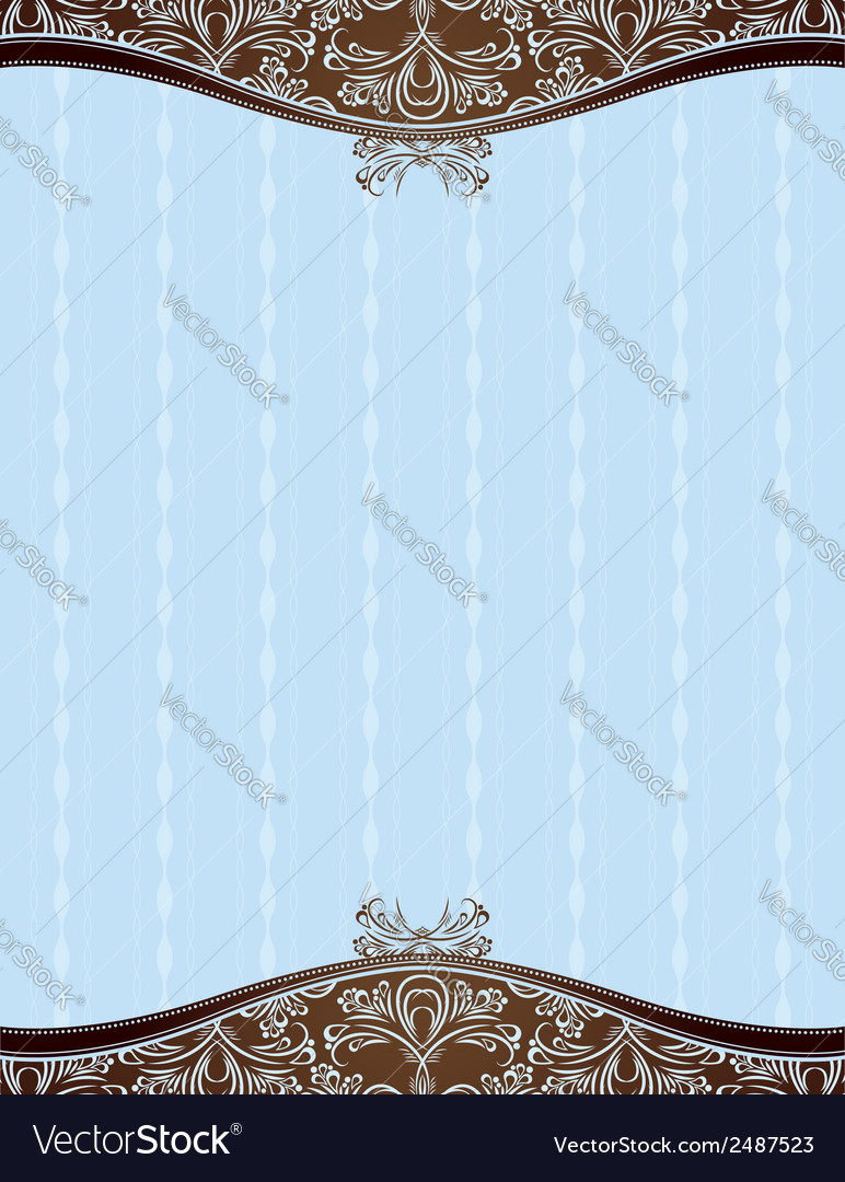 Blue background with decorative ornaments vector | Price: 1 Credit (USD $1)