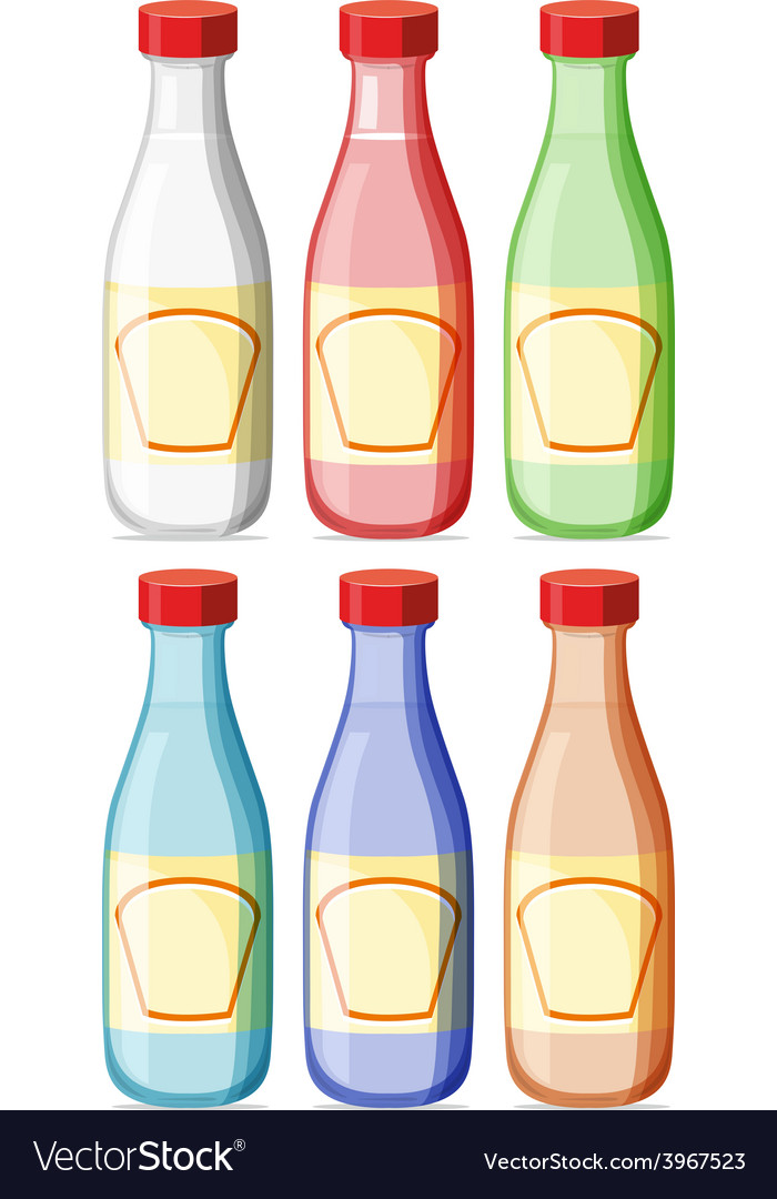 Bottle with lable vector | Price: 1 Credit (USD $1)