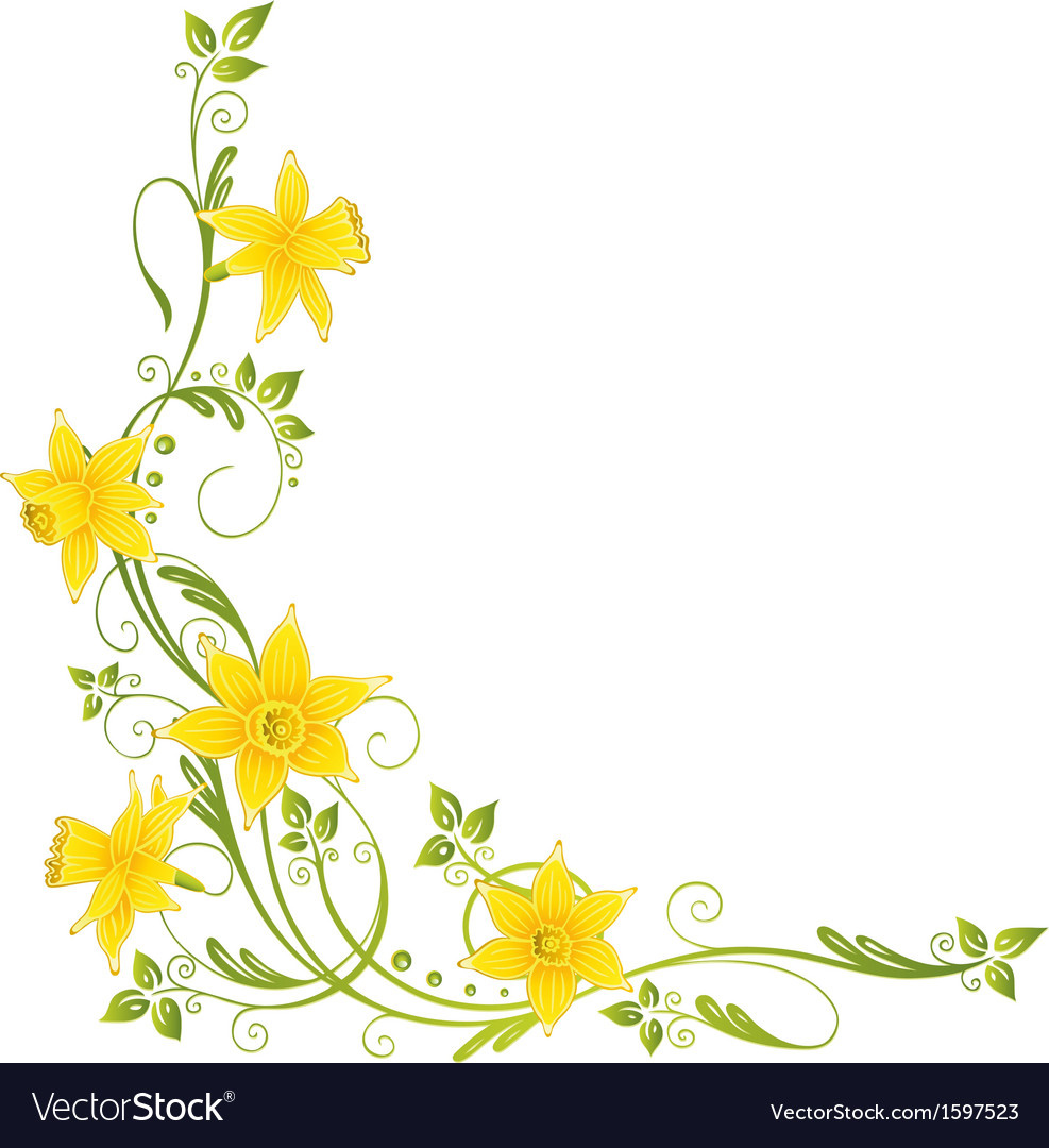 Daffodils easter spring vector | Price: 1 Credit (USD $1)