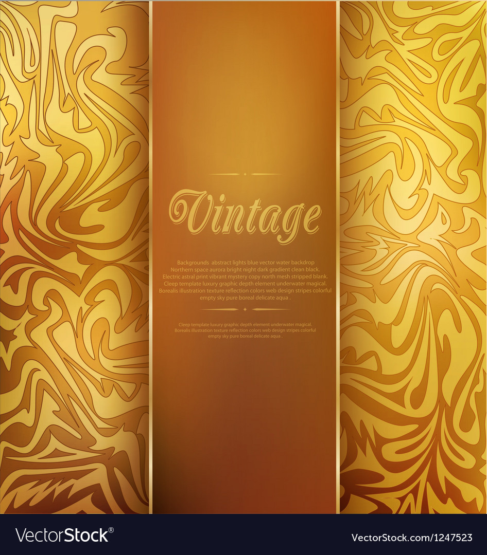 Gold vintage background vector | Price: 1 Credit (USD $1)