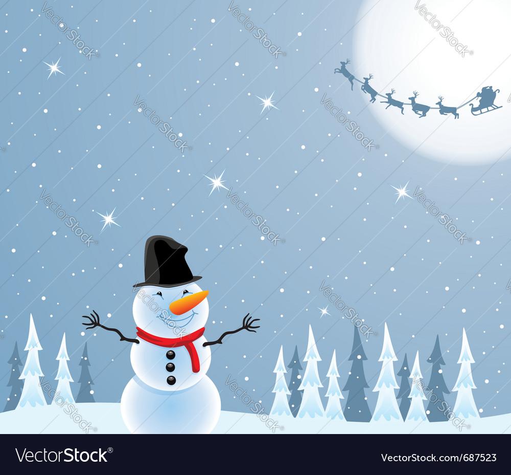 Happy snowman vector   Price: 1 Credit (USD $1)