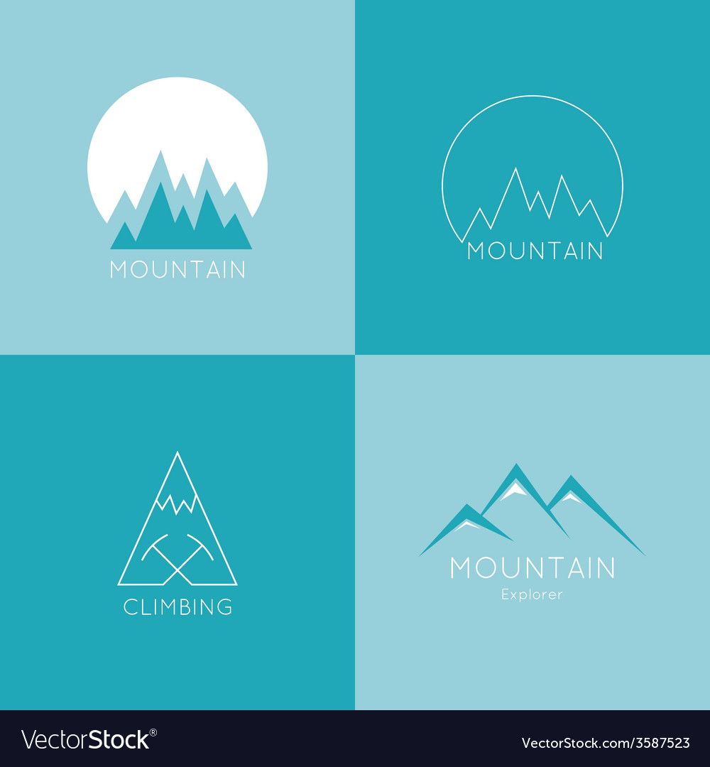Mountains in box vector | Price: 1 Credit (USD $1)