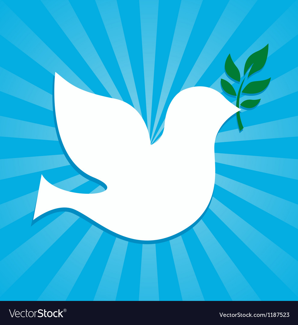 Peace dove symbol vector | Price: 1 Credit (USD $1)