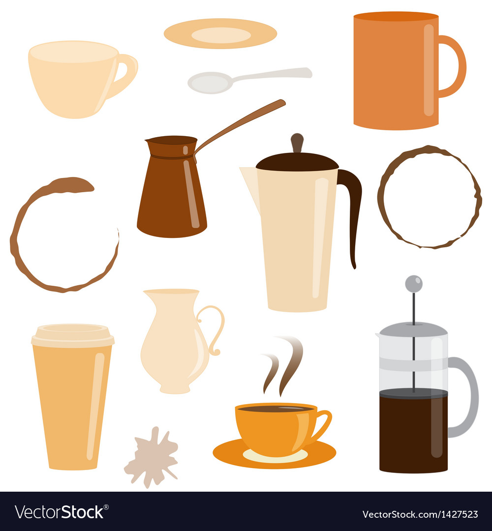Set of coffee related icons vector | Price: 1 Credit (USD $1)