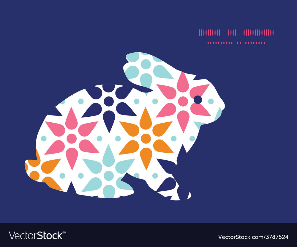 Abstract colorful stars bunny rabbit vector | Price: 1 Credit (USD $1)