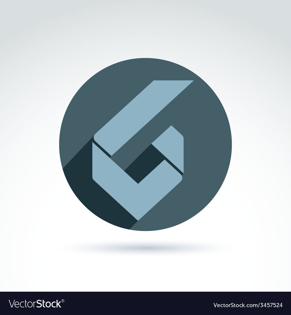 Conceptual corporate element abstract geometric vector | Price: 1 Credit (USD $1)