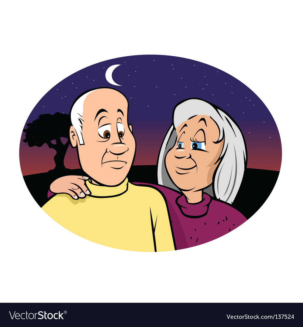 Elderly couple vector | Price: 3 Credit (USD $3)