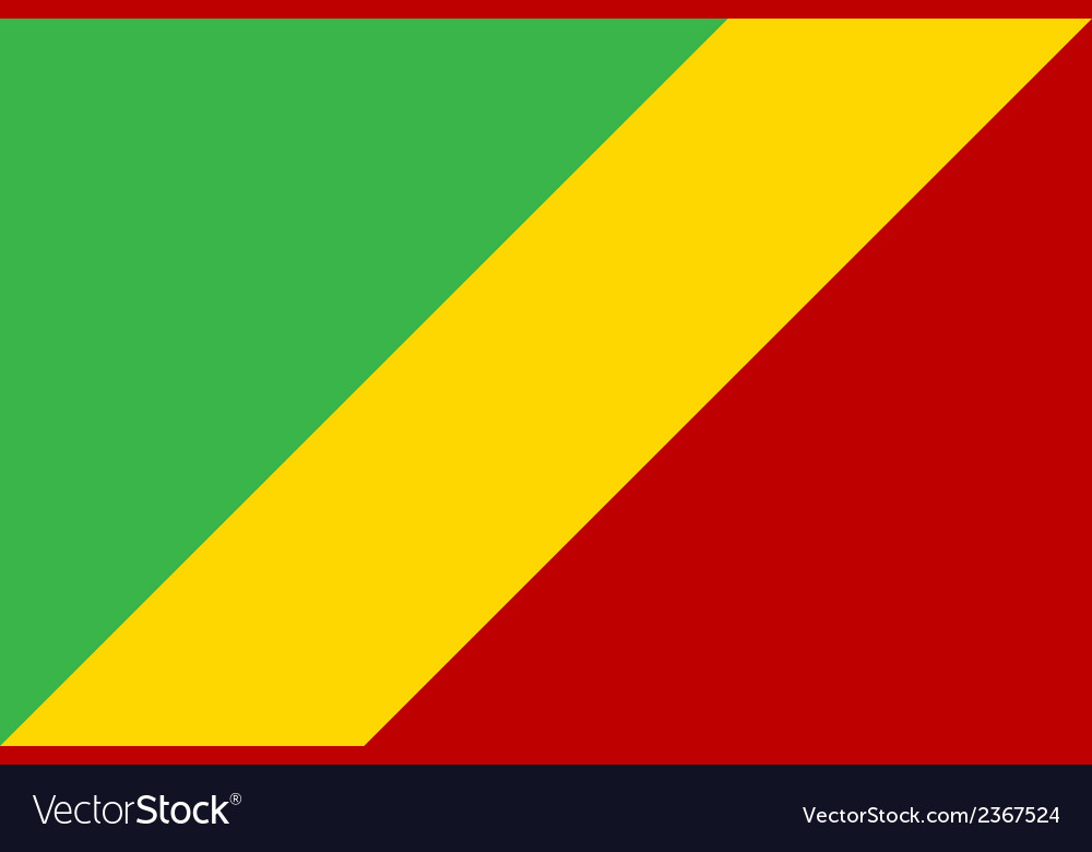 Flag of republic of the congo vector | Price: 1 Credit (USD $1)