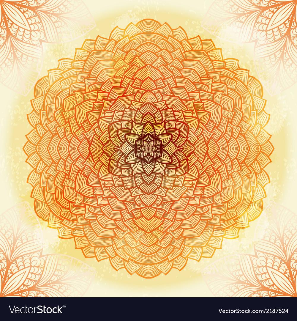Hand drawn beige ornament vector | Price: 1 Credit (USD $1)