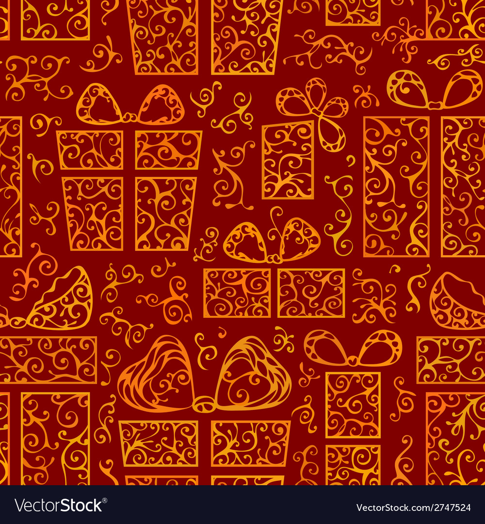 Seamless festive pattern vector | Price: 1 Credit (USD $1)