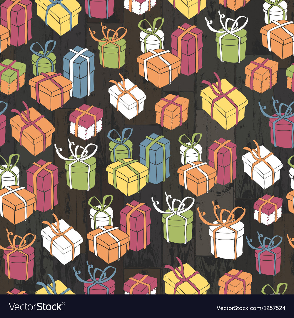 Seamless gifts pattern vector | Price: 3 Credit (USD $3)