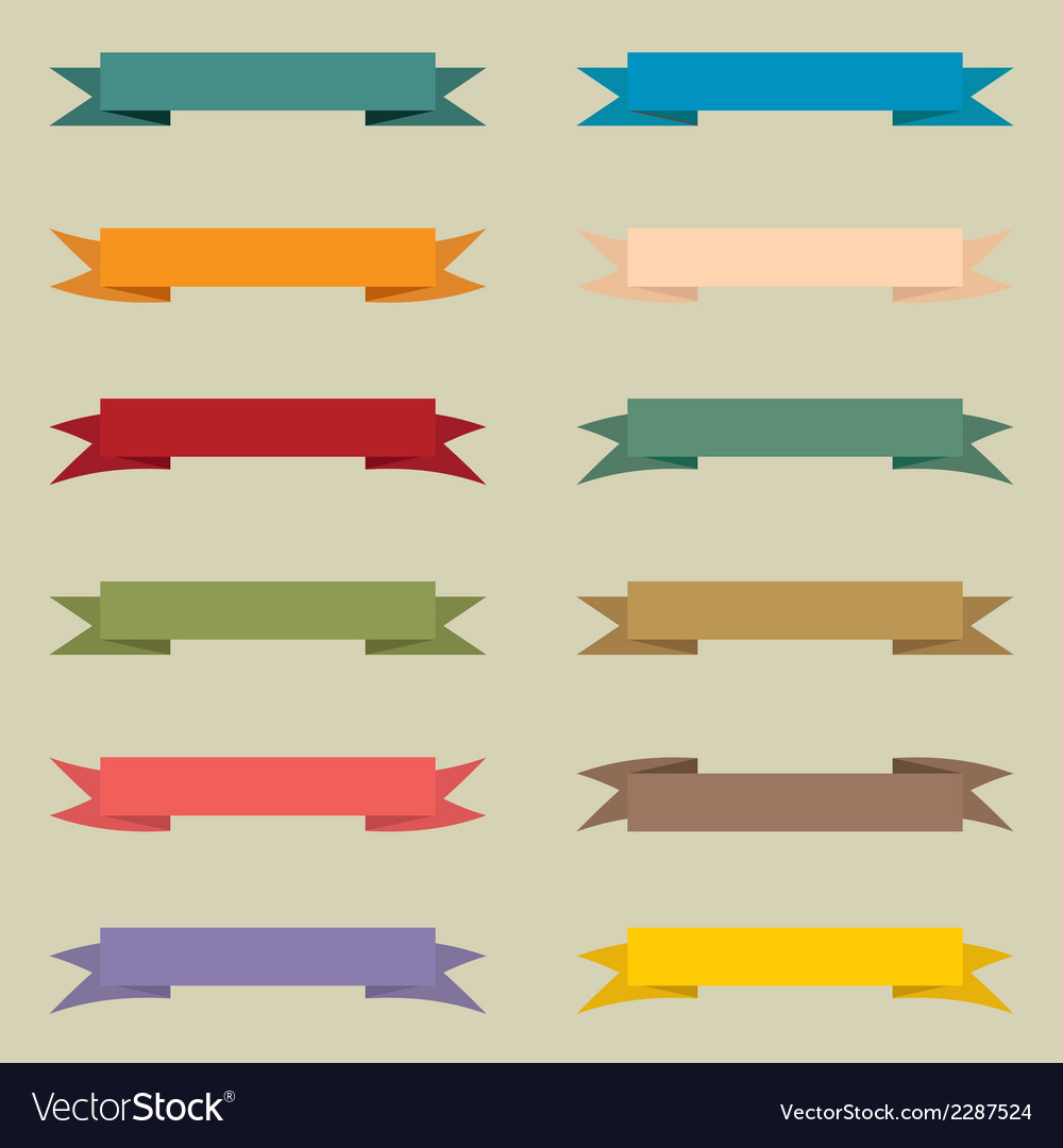 Set of multicolored vintage banners vector | Price: 1 Credit (USD $1)