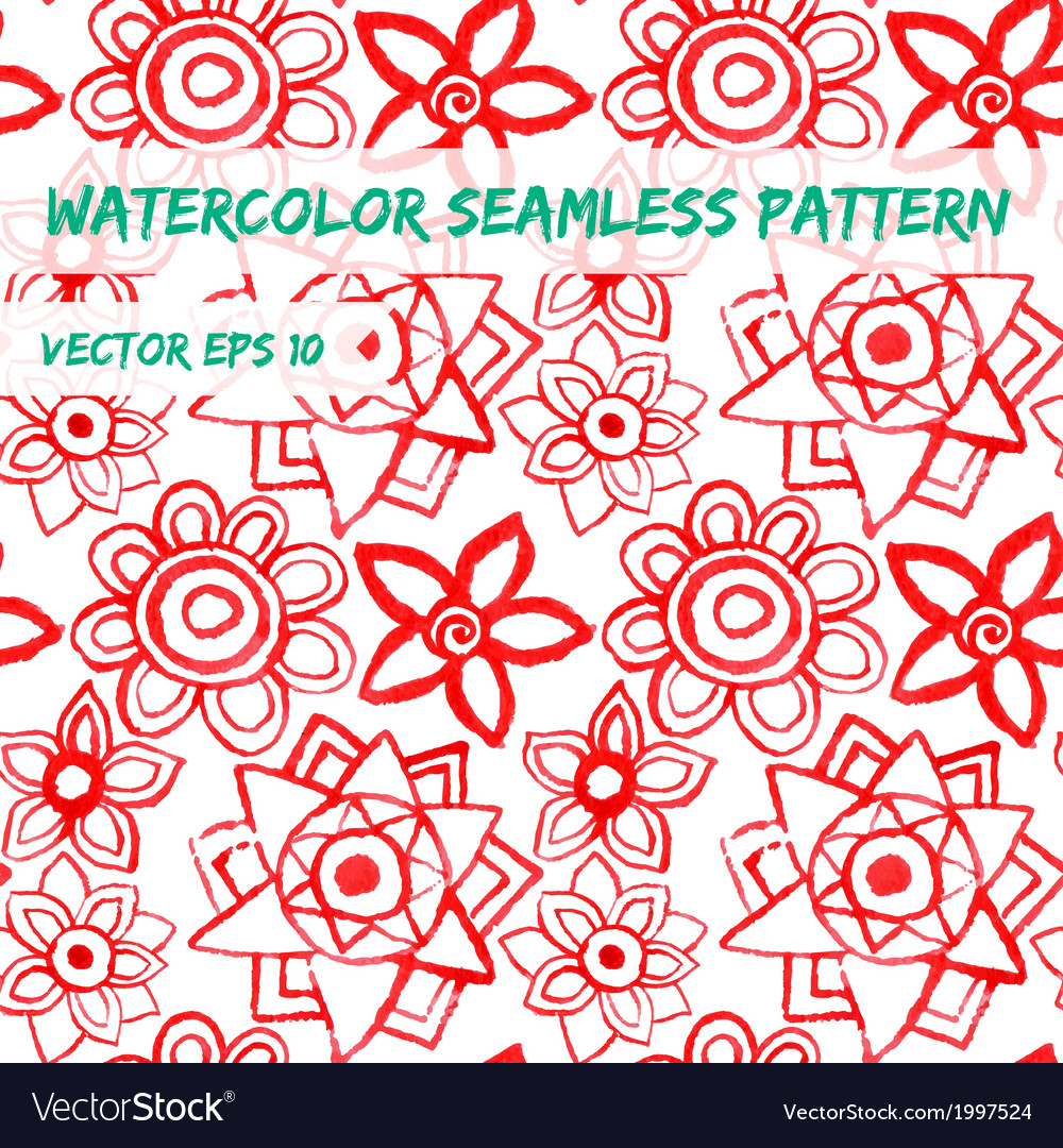 Watercolor abstract colorful seamless pattern vector | Price: 1 Credit (USD $1)