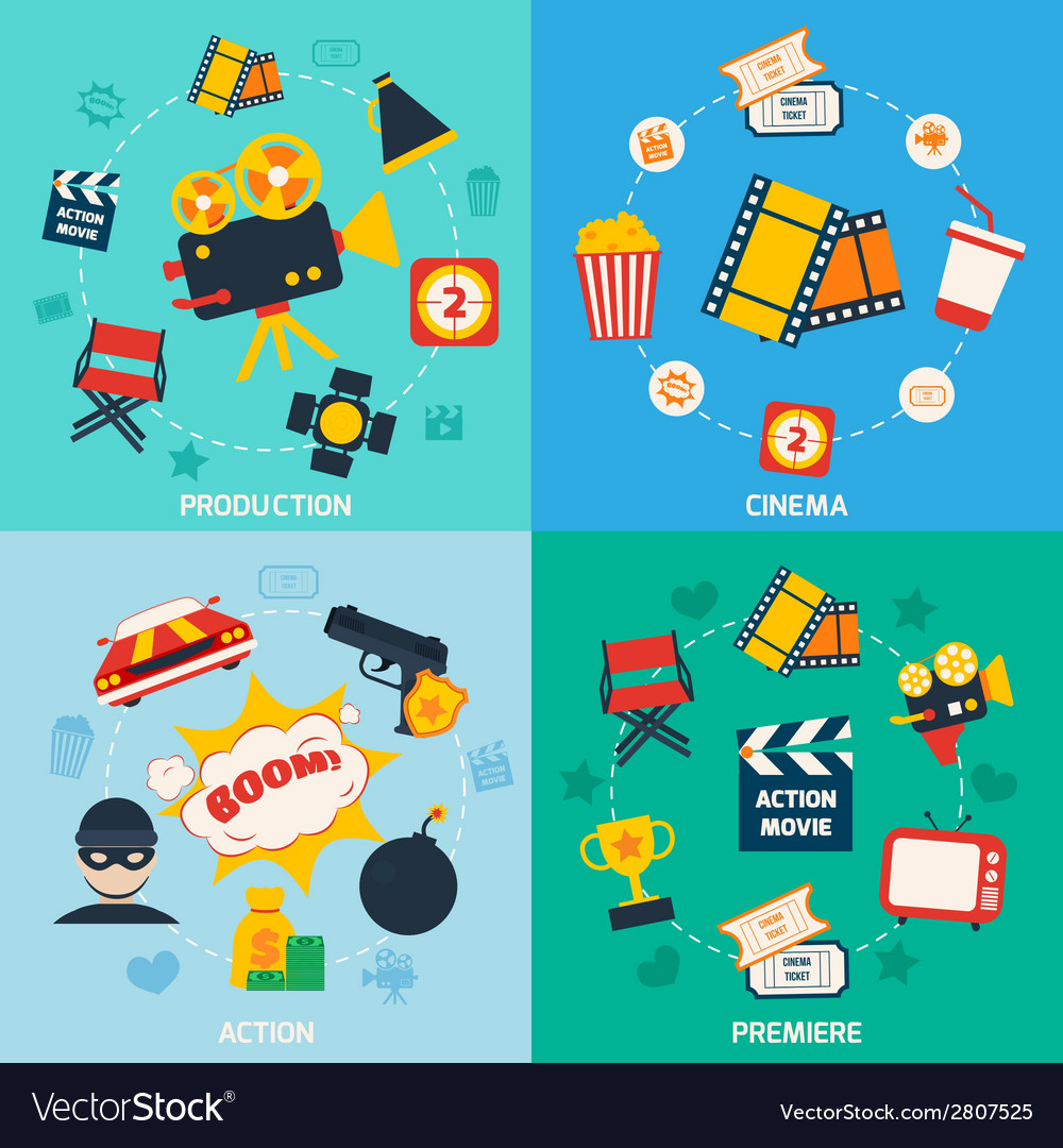 Action movie composition vector | Price: 1 Credit (USD $1)