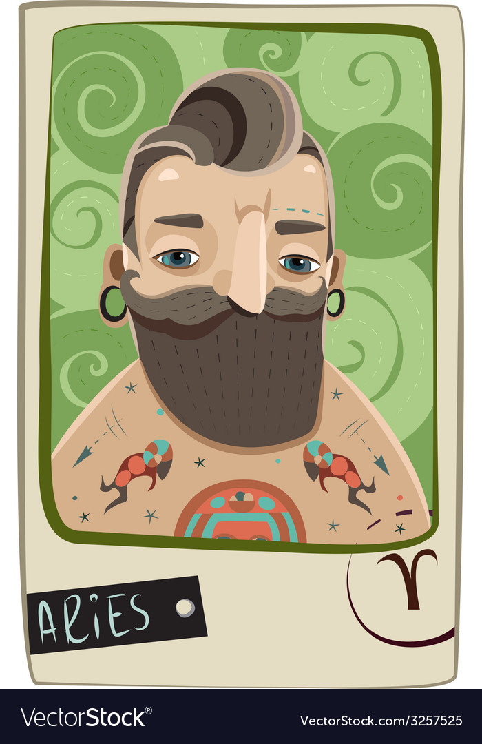 Aries man vector | Price: 1 Credit (USD $1)