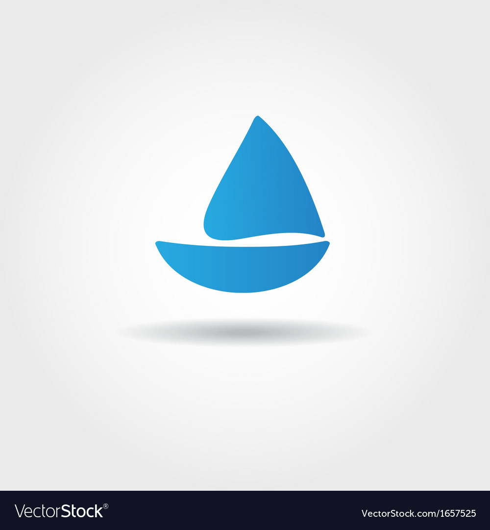 Boat and sea wave icon vector | Price: 1 Credit (USD $1)