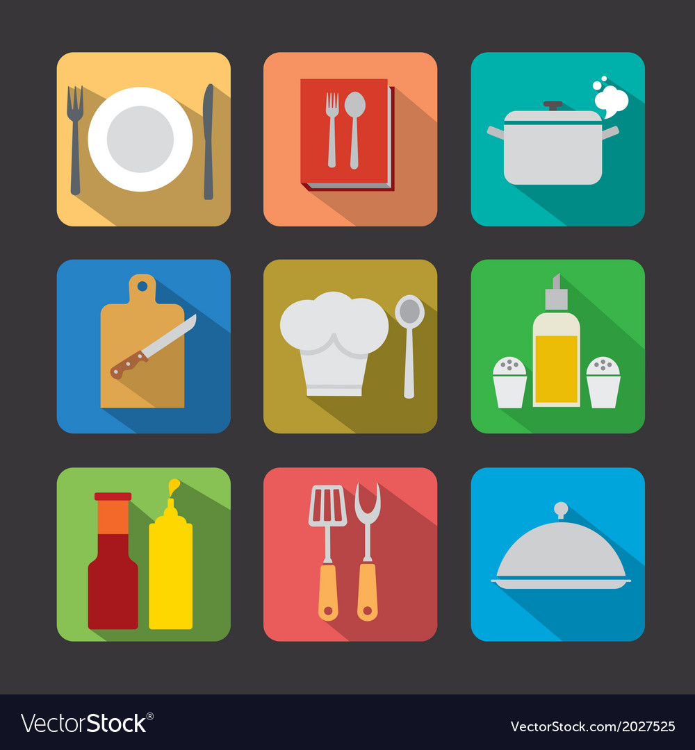 Cooking icon flat vector | Price: 1 Credit (USD $1)