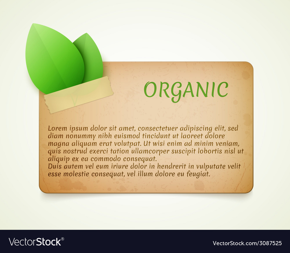 Eco friendly paper template banner vector | Price: 1 Credit (USD $1)
