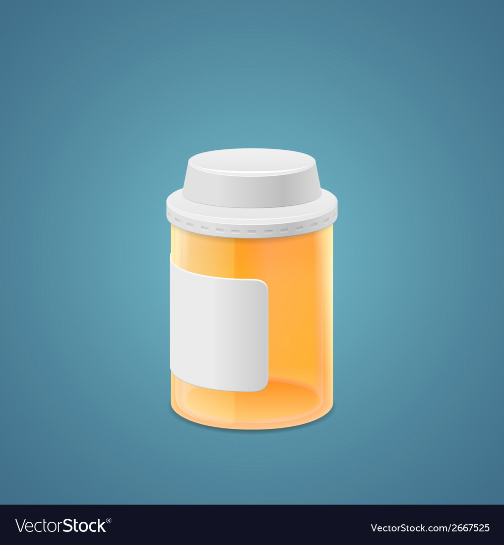 Empty plastic jar vector | Price: 1 Credit (USD $1)