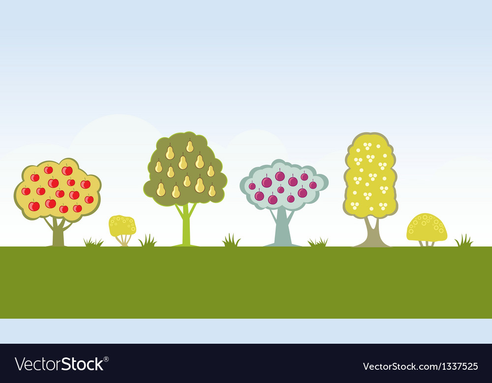 Fruit trees vector | Price: 1 Credit (USD $1)