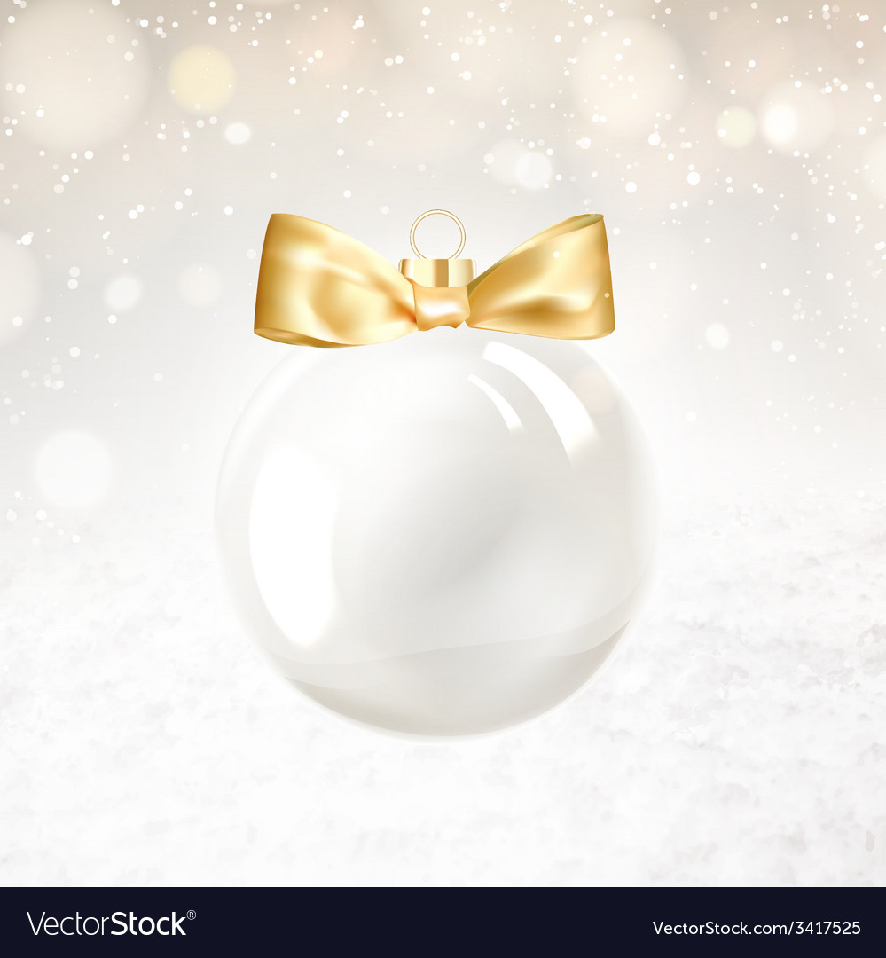 Golden christmas ball vector   Price: 1 Credit (USD $1)
