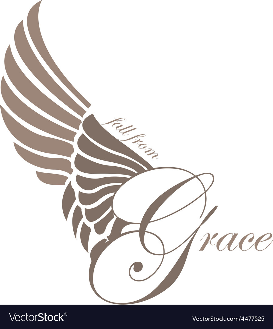 Grace wings design elements vector | Price: 1 Credit (USD $1)