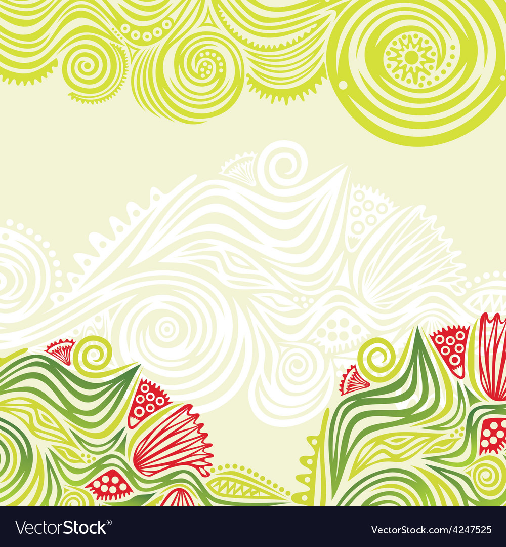 Green spring nature pattern background vector | Price: 1 Credit (USD $1)