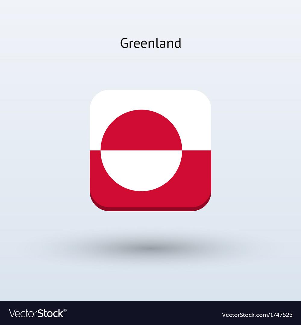 Greenland flag icon vector | Price: 1 Credit (USD $1)