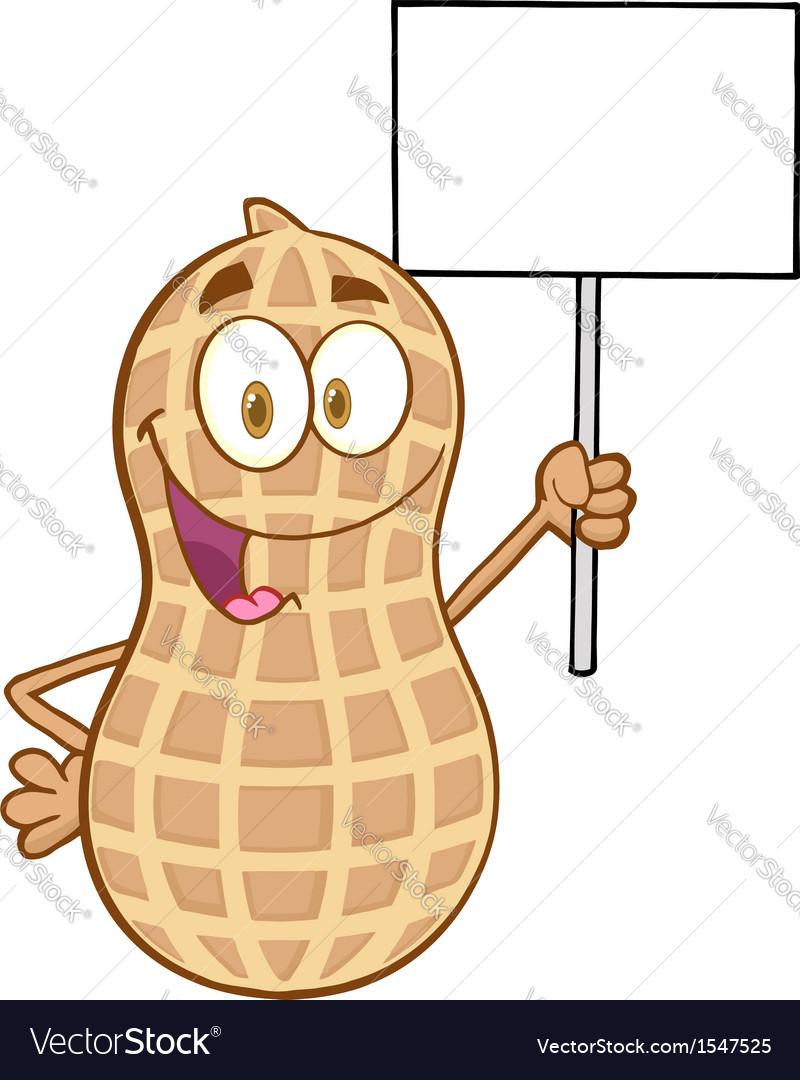 Happy peanut cartoon sticker vector | Price: 1 Credit (USD $1)