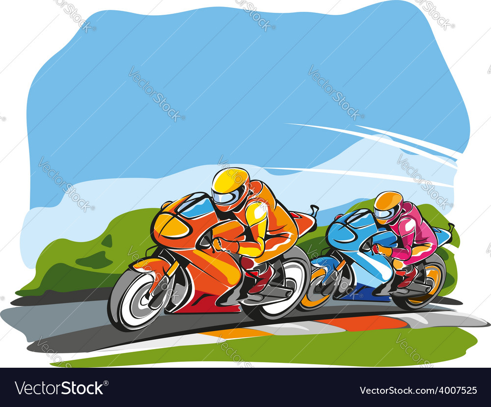 Motor race vector | Price: 3 Credit (USD $3)