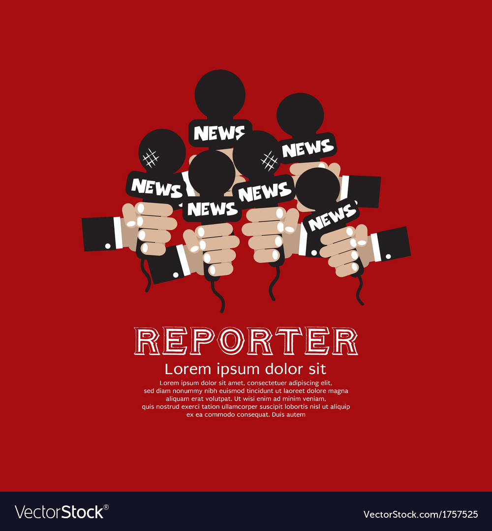 Reporter concept vector | Price: 1 Credit (USD $1)