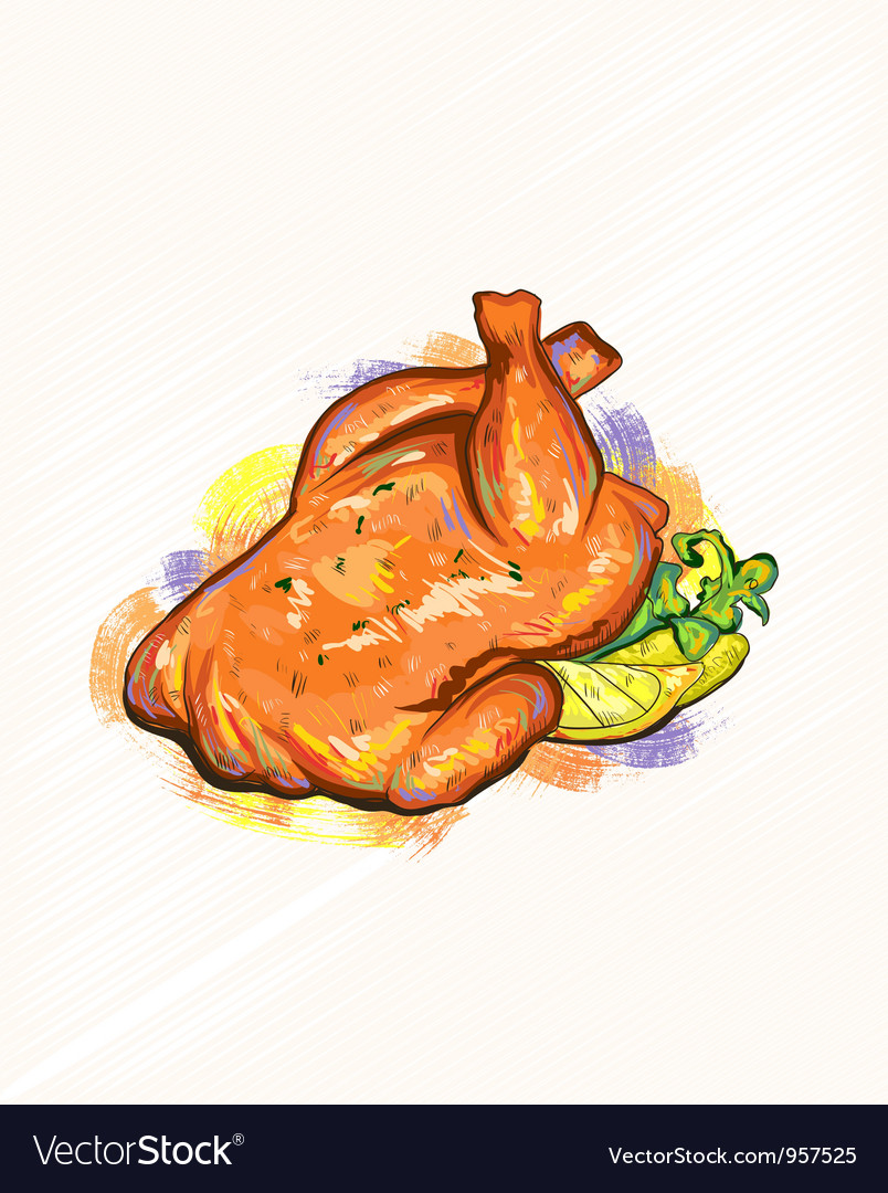 Roast chicken vector | Price: 1 Credit (USD $1)