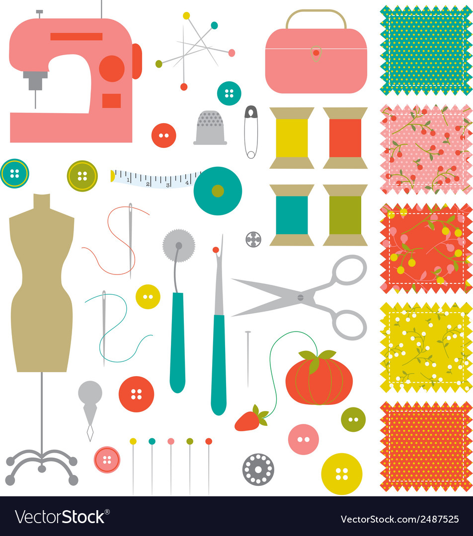 Sewing clipart vector | Price: 1 Credit (USD $1)