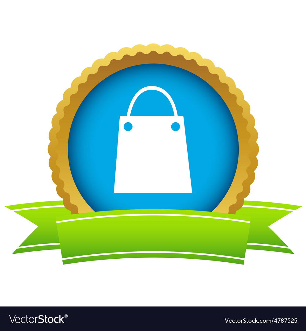 Shopping bag round icon vector   Price: 1 Credit (USD $1)