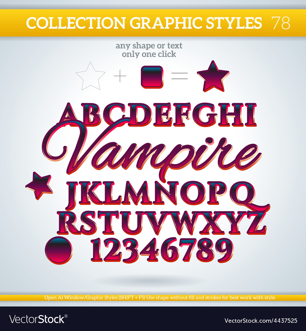 Vampire graphic styles for design use for decor vector | Price: 1 Credit (USD $1)