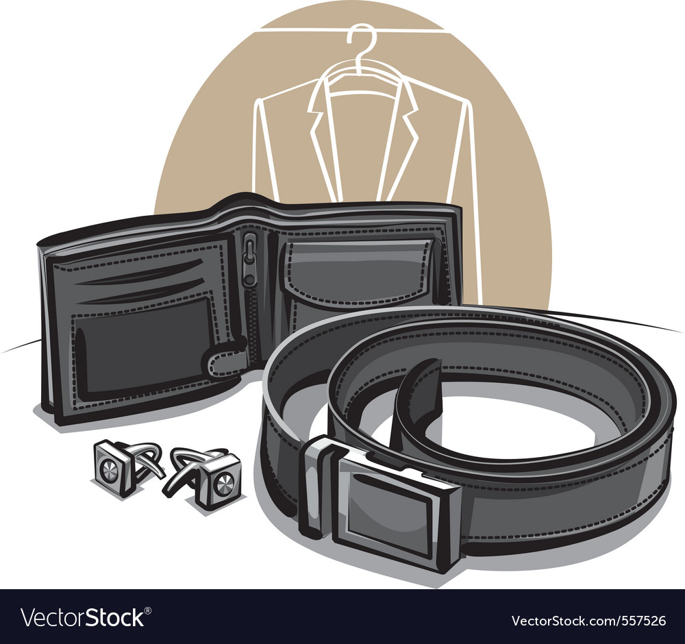 Belt and wallet vector | Price: 3 Credit (USD $3)