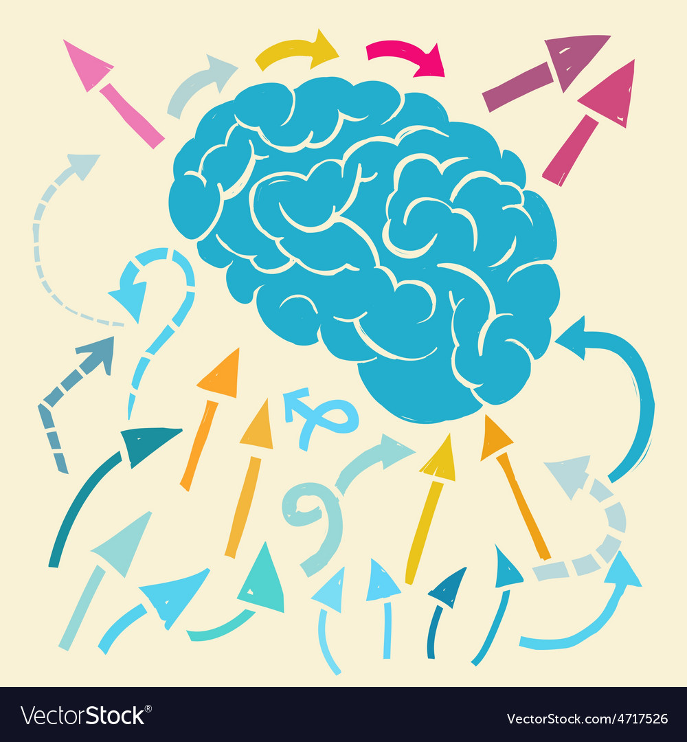 Brain and ideas flow vector | Price: 1 Credit (USD $1)