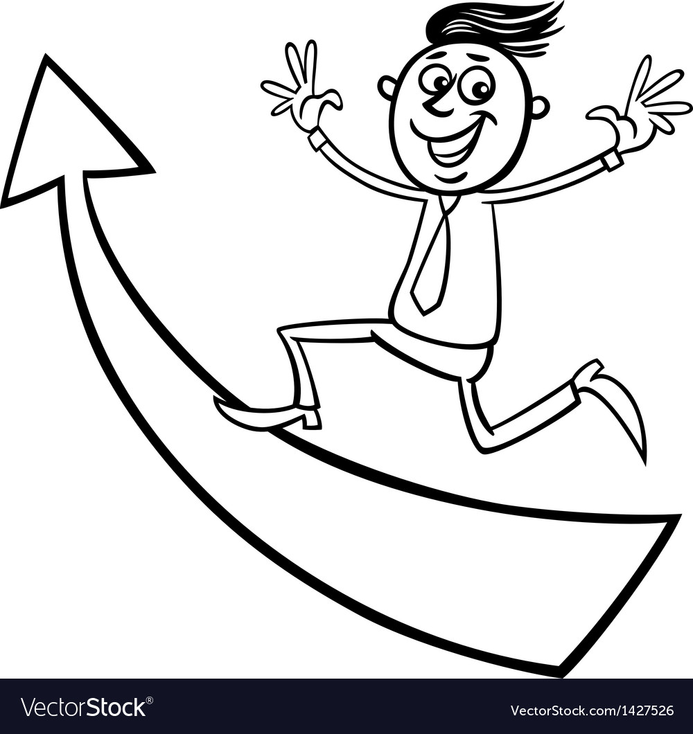 Businessman with arrow cartoon vector   Price: 1 Credit (USD $1)
