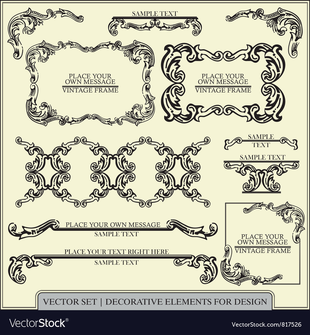Calligraphic design elements and page vector | Price: 1 Credit (USD $1)