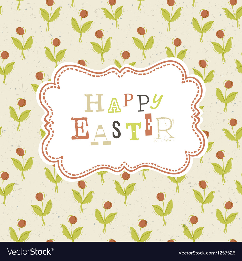 Easter greeting card background vector | Price: 1 Credit (USD $1)