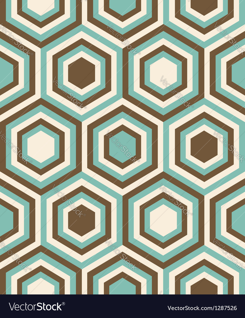 Fashion geometrical pattern with hexagons vector | Price: 1 Credit (USD $1)