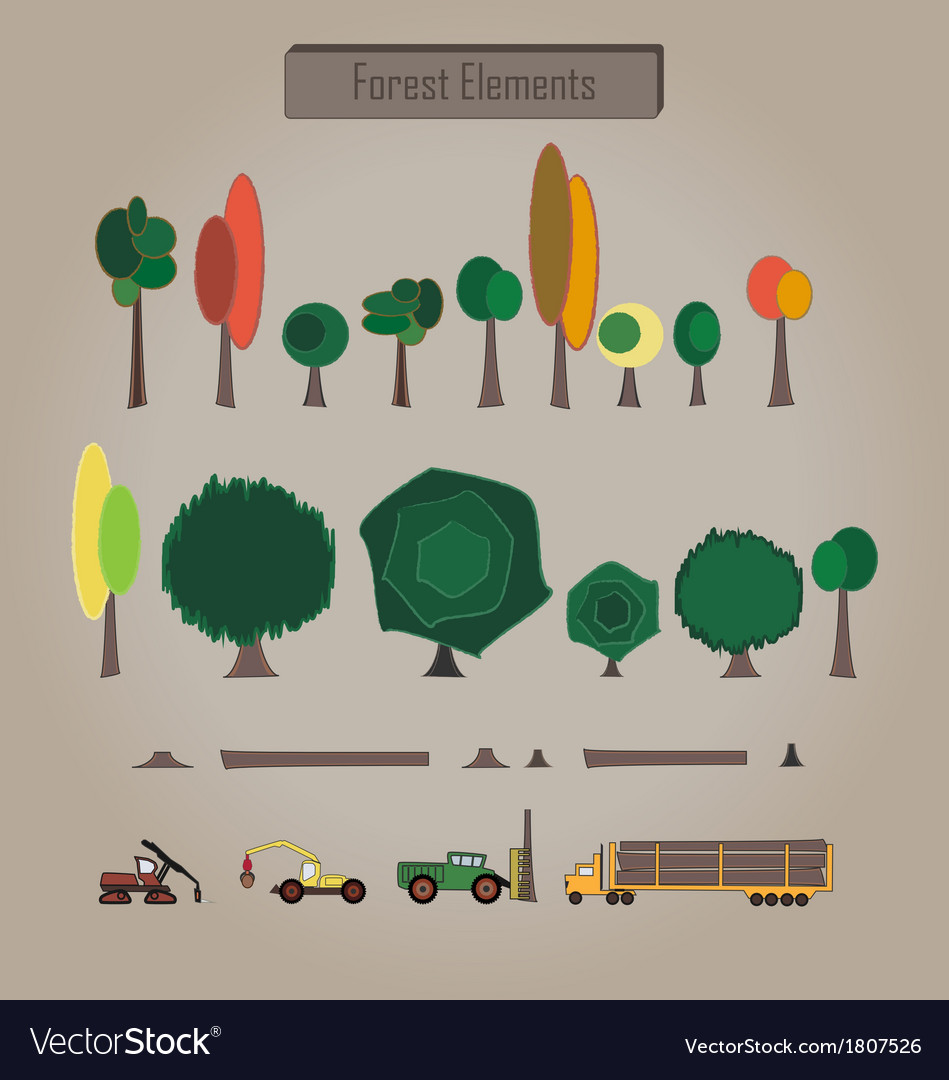 Forest elements vector   Price: 1 Credit (USD $1)