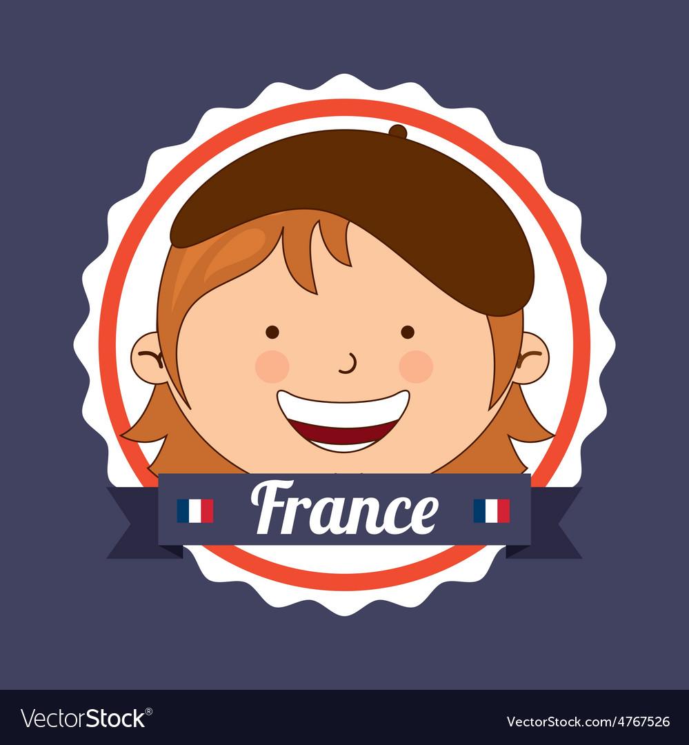 France kid vector