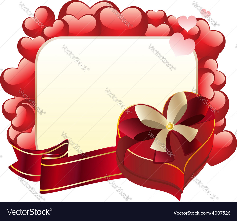 Heart shaped box with ribbon3 vector | Price: 3 Credit (USD $3)