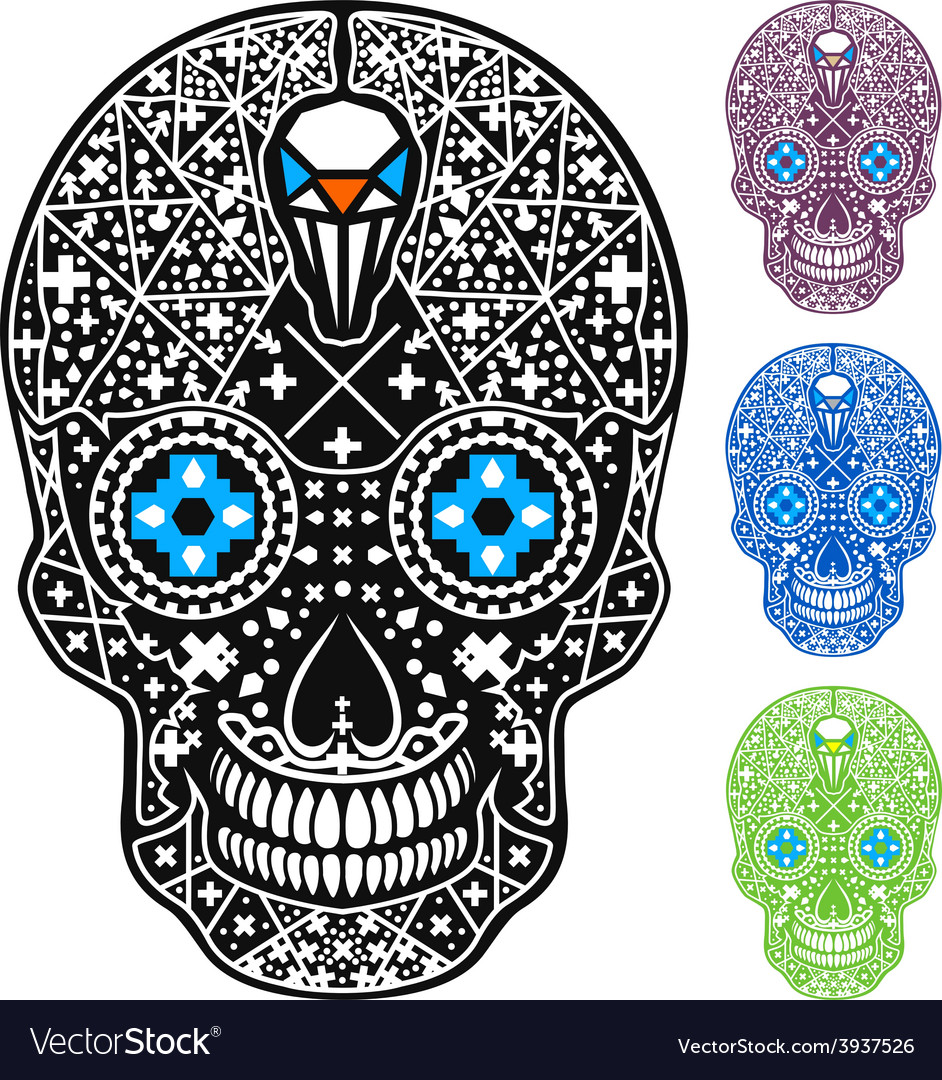Mexican skull cross-skull vector | Price: 1 Credit (USD $1)